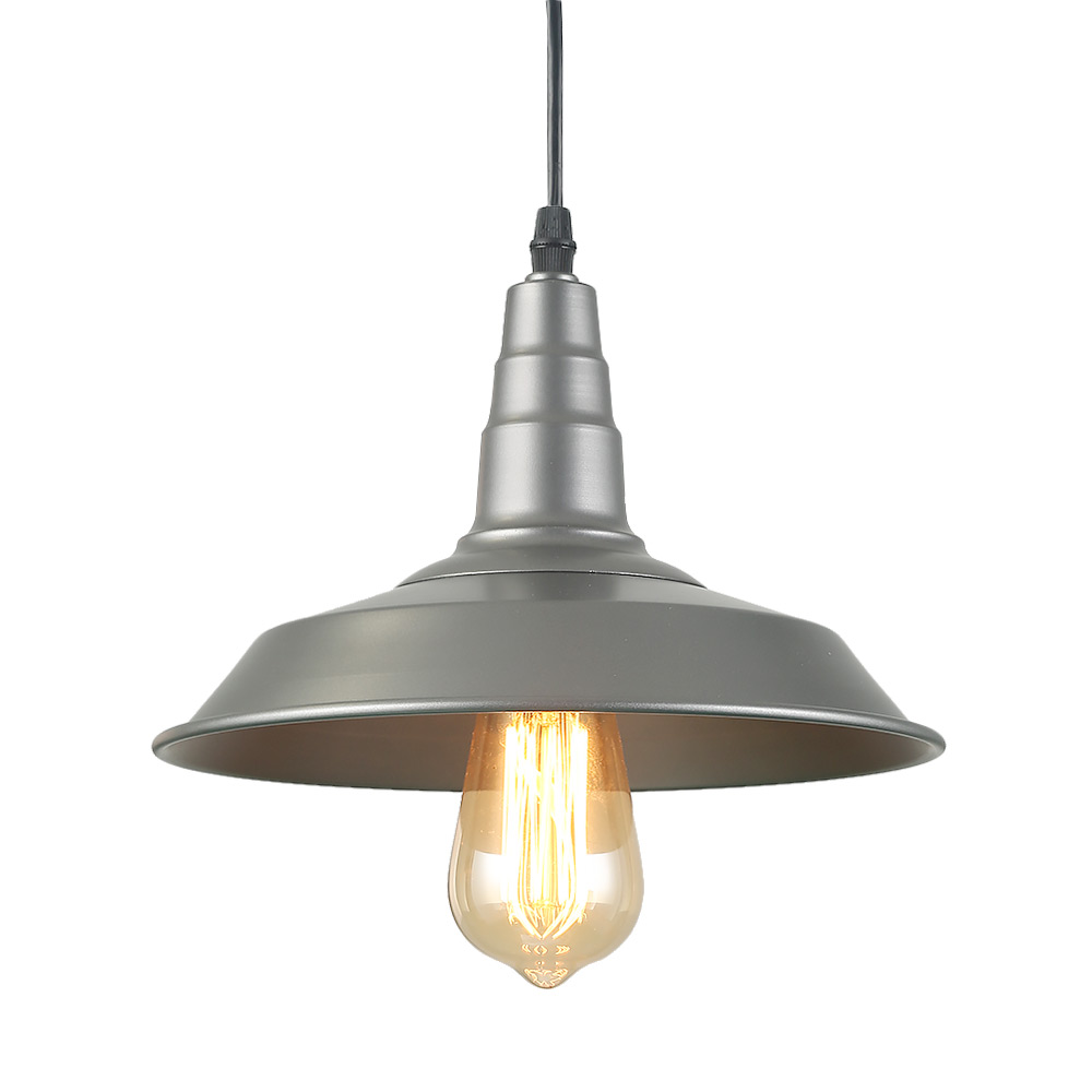 LNC 1-Light Barn Pendant Lights Farmhouse Silver Ceiling Light